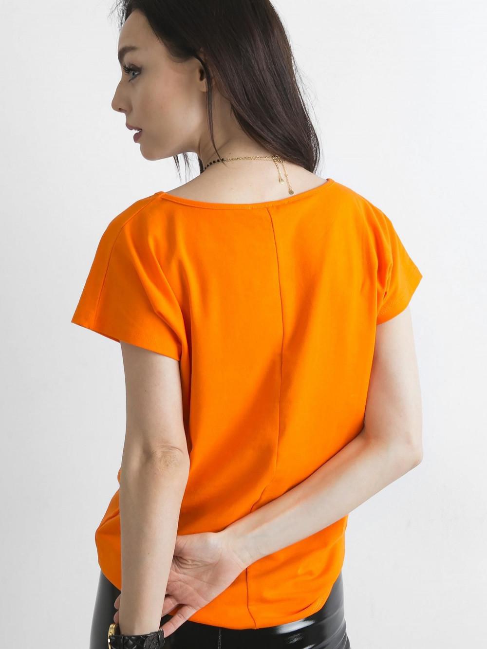 Pomarańczowy t-shirt basic Rough 4