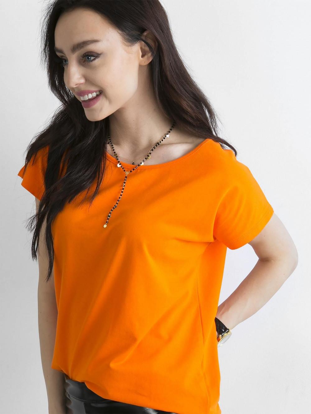 Pomarańczowy t-shirt basic Rough 2