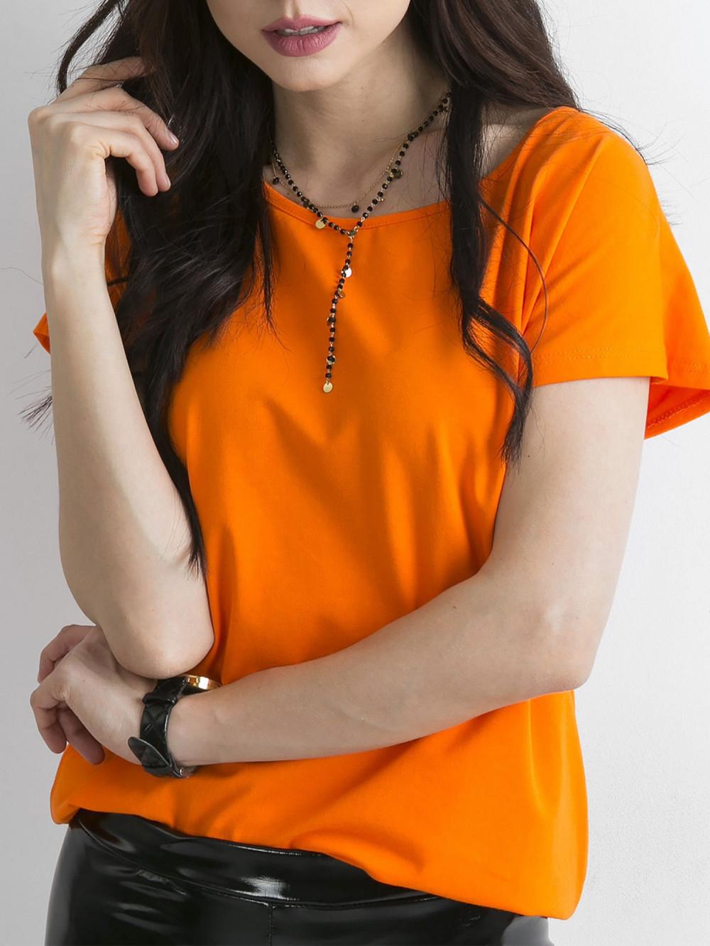 Pomarańczowy t-shirt basic Rough 1
