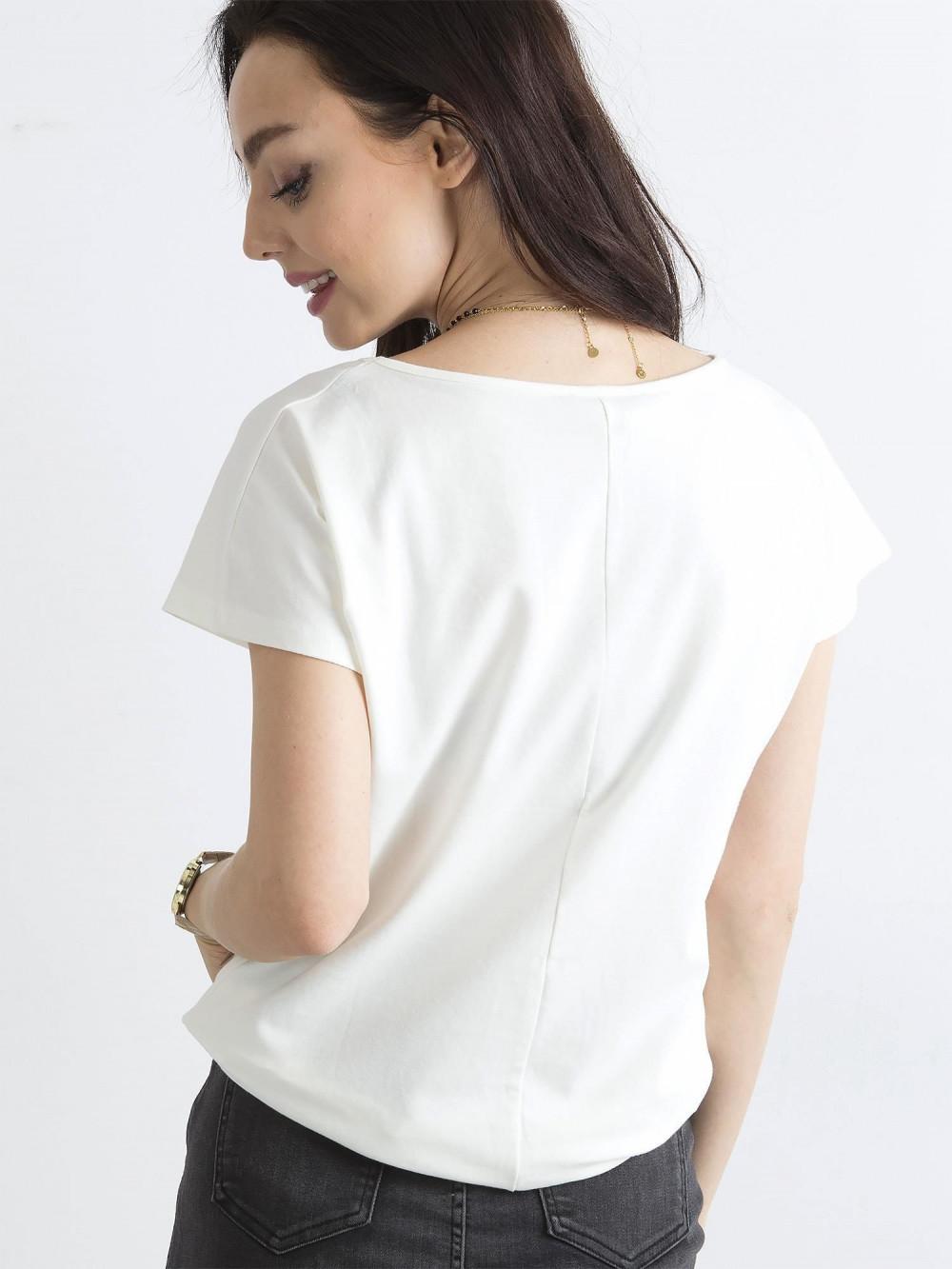 Ecru t-shirt basic Rough 4