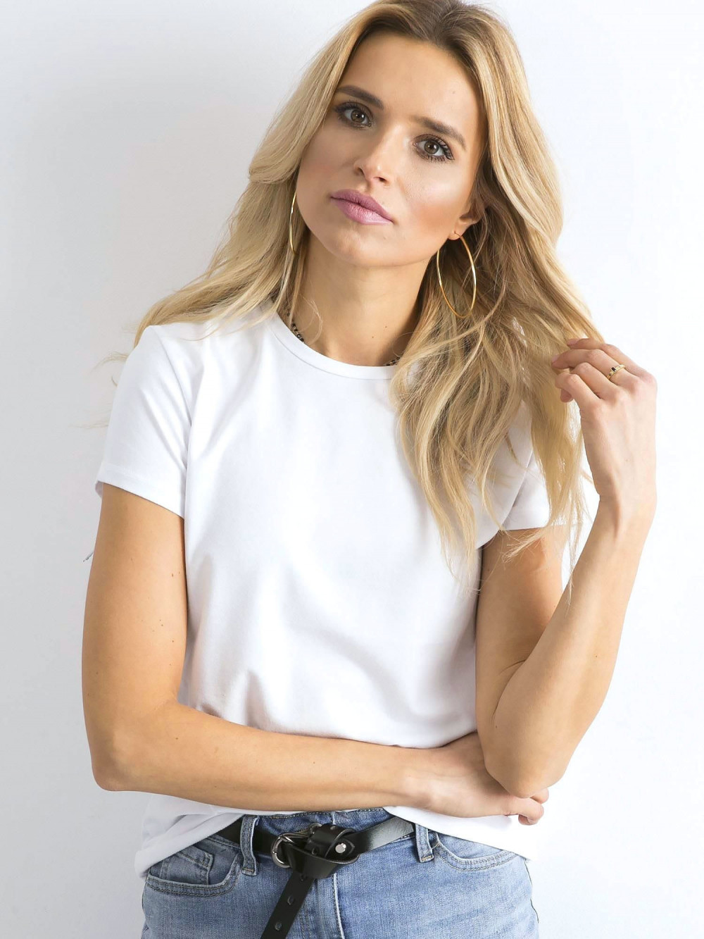 Biały t-shirt O-Neck Esma 2