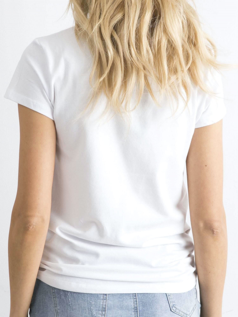 Biały t-shirt O-Neck Esma 5