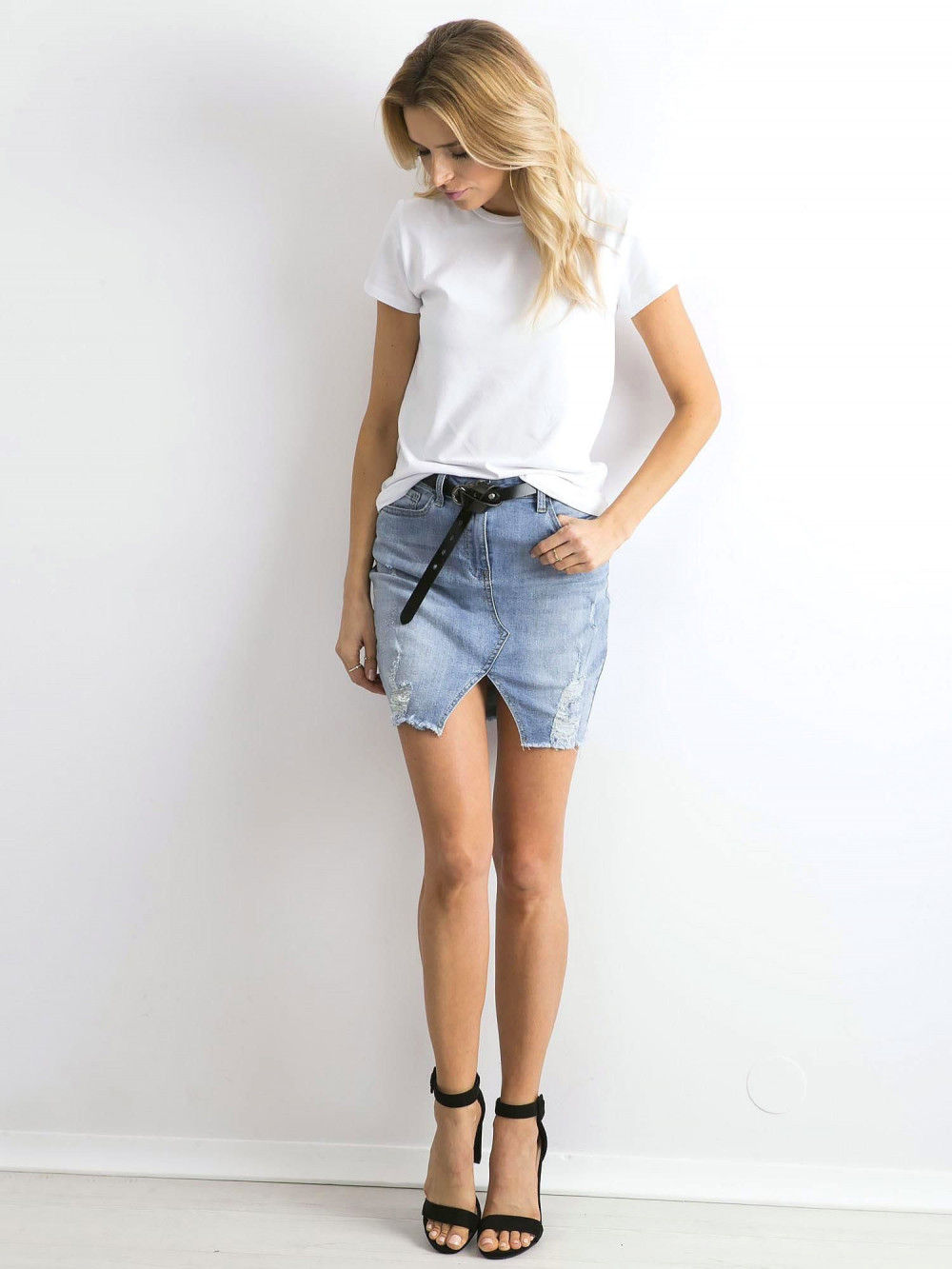 Biały t-shirt O-Neck Esma 3
