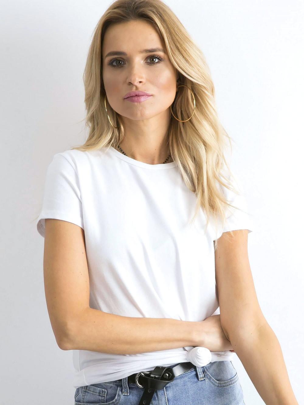 Biały t-shirt O-Neck Esma 1