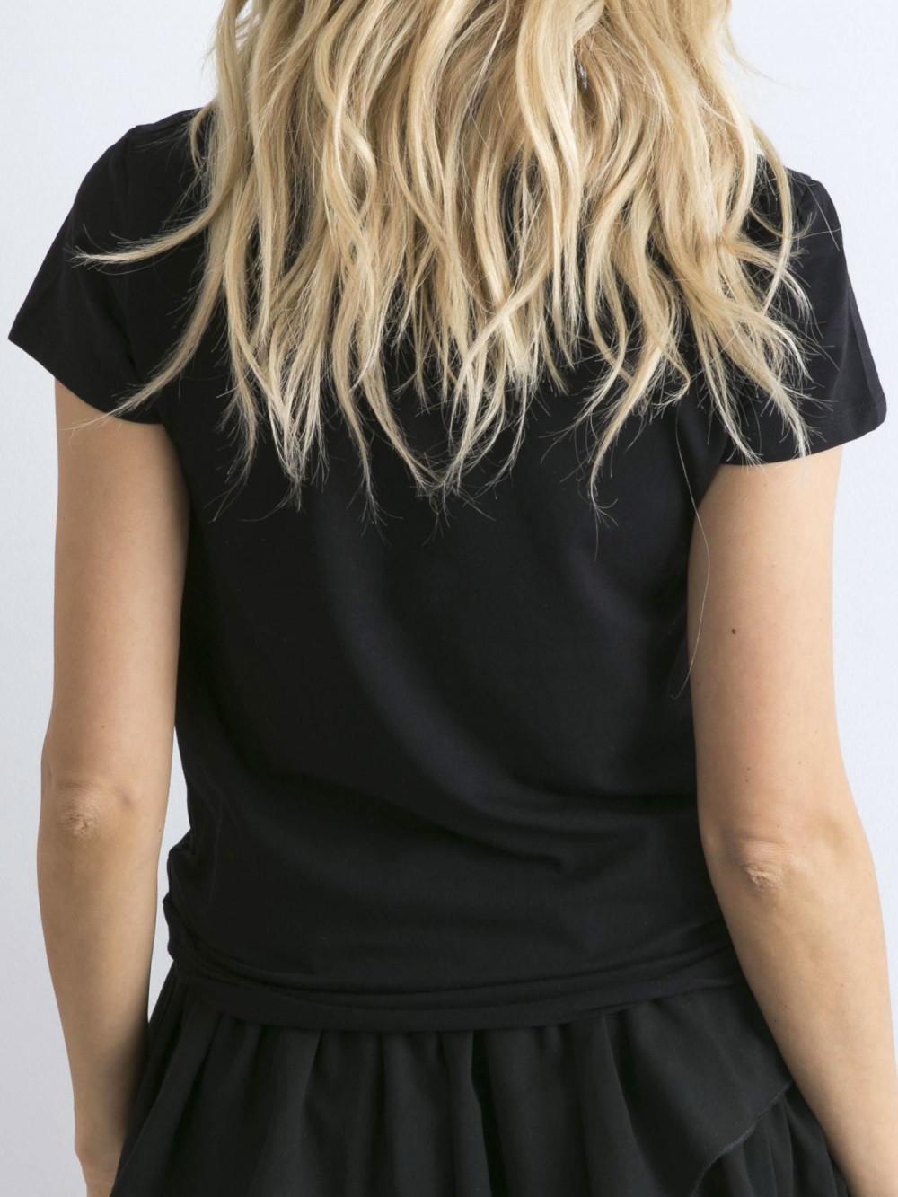 Czarny t-shirt O-Neck Esma 6