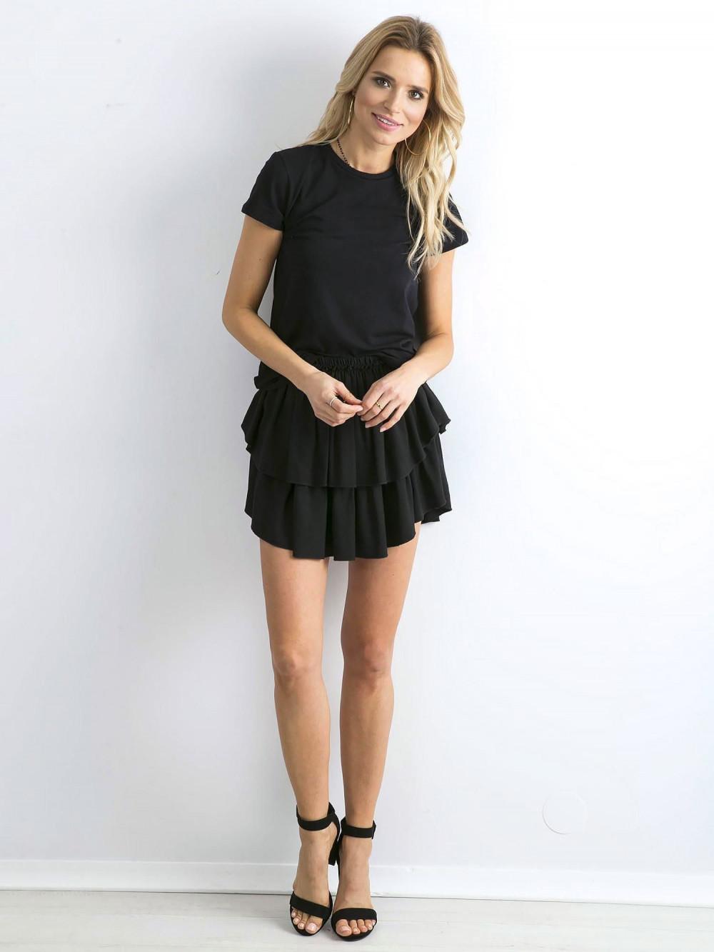 Czarny t-shirt O-Neck Esma 4