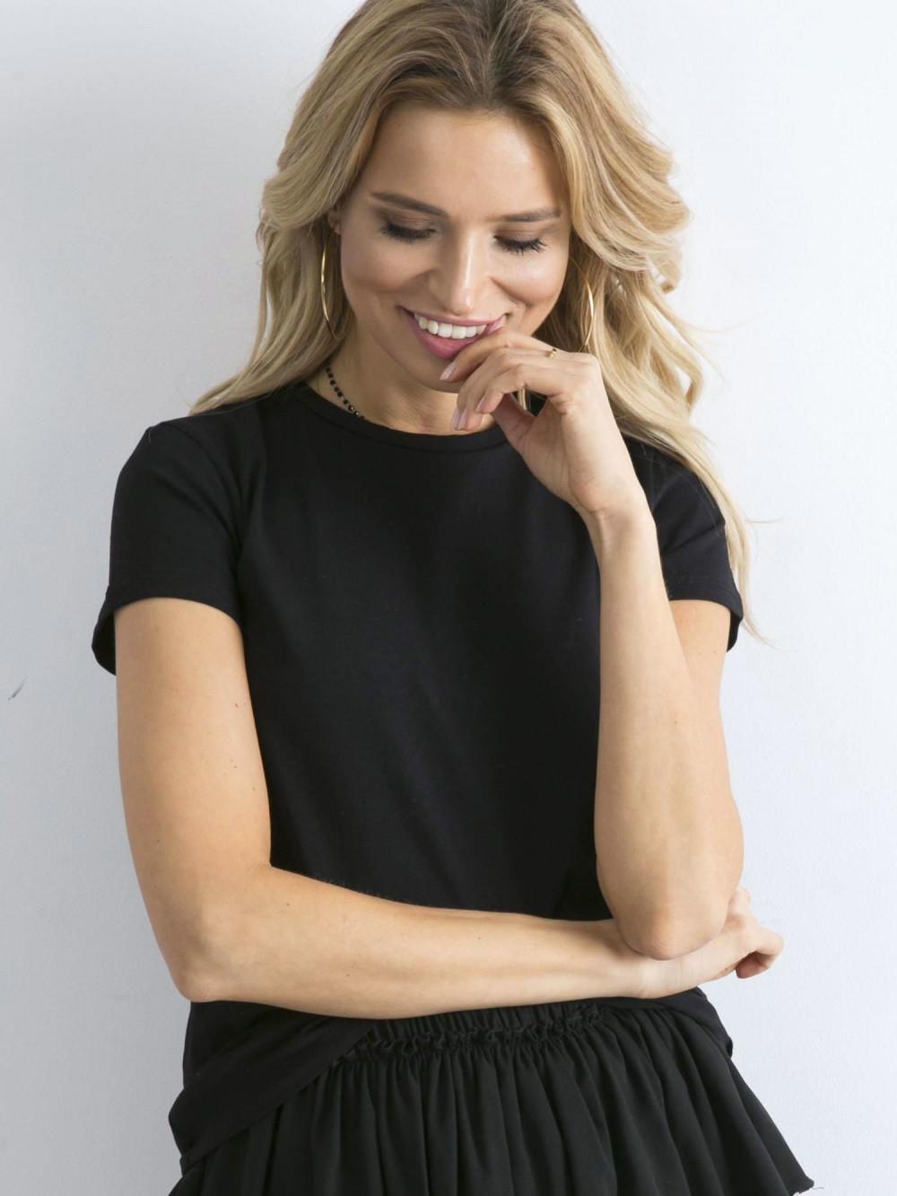 Czarny t-shirt O-Neck Esma 1