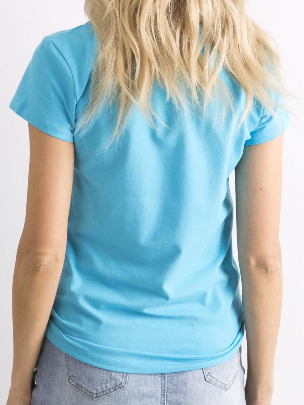 Niebieski t-shirt O-Neck Esma 5