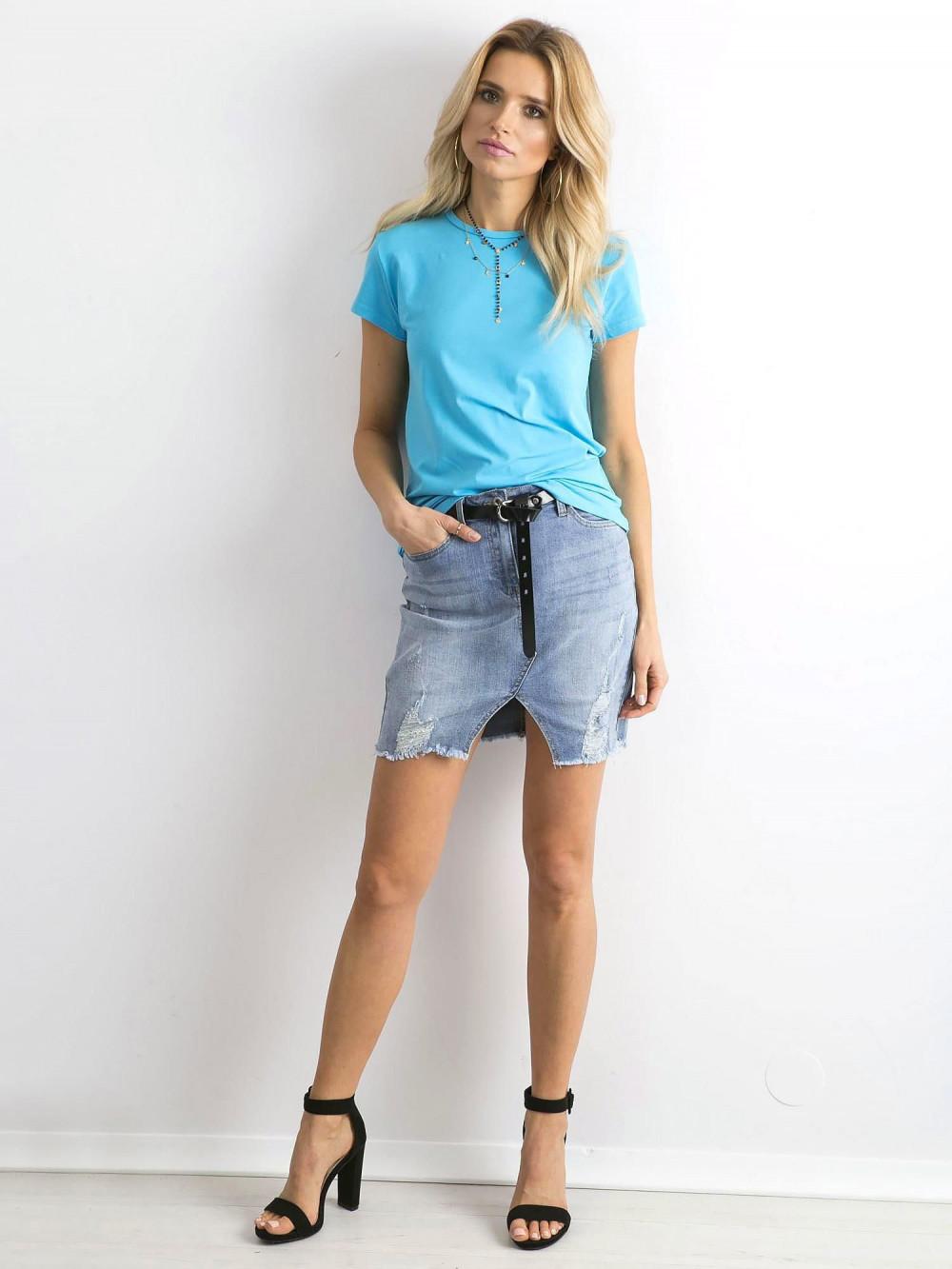 Niebieski t-shirt O-Neck Esma 4