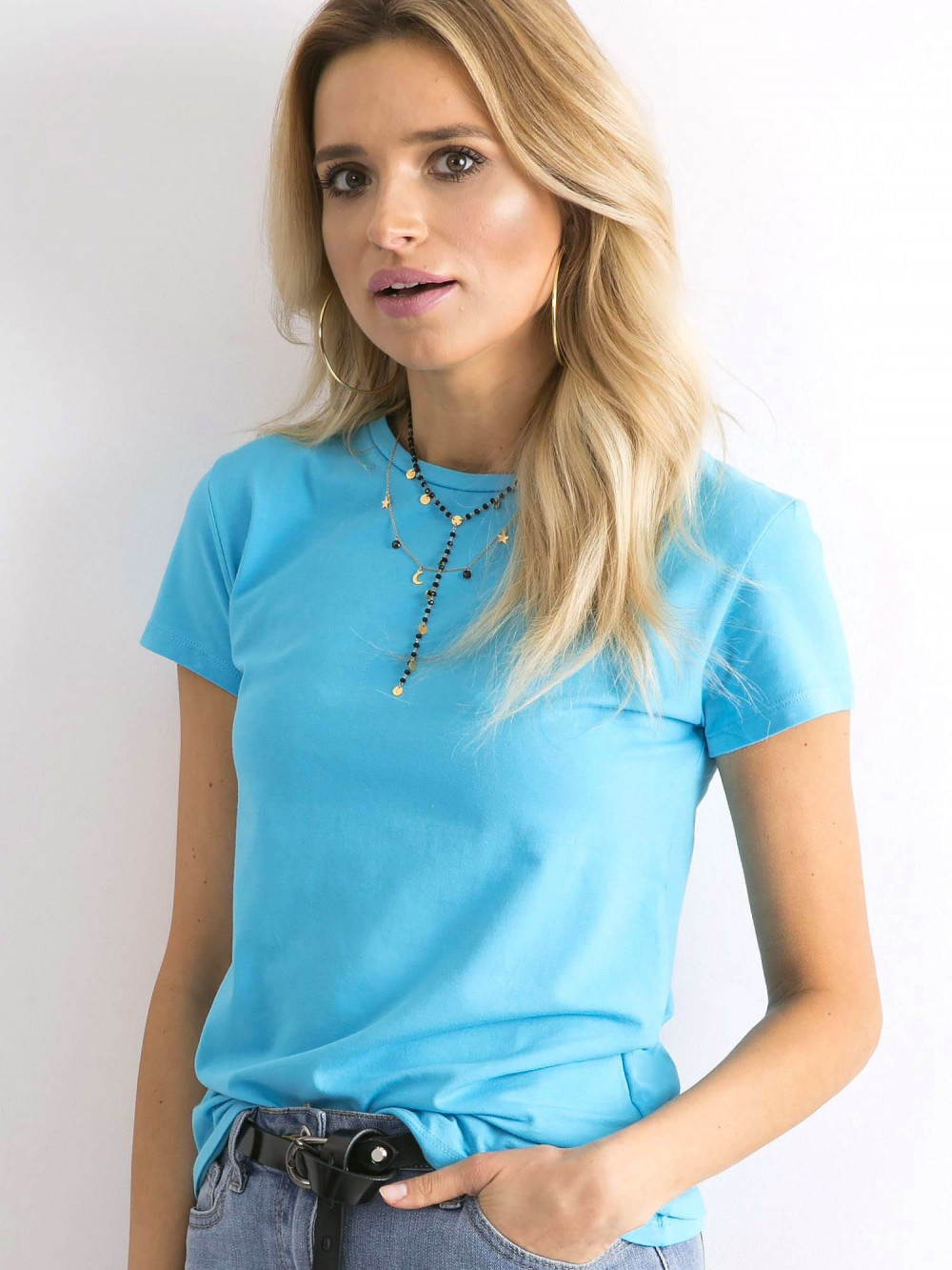 Niebieski t-shirt O-Neck Esma 2