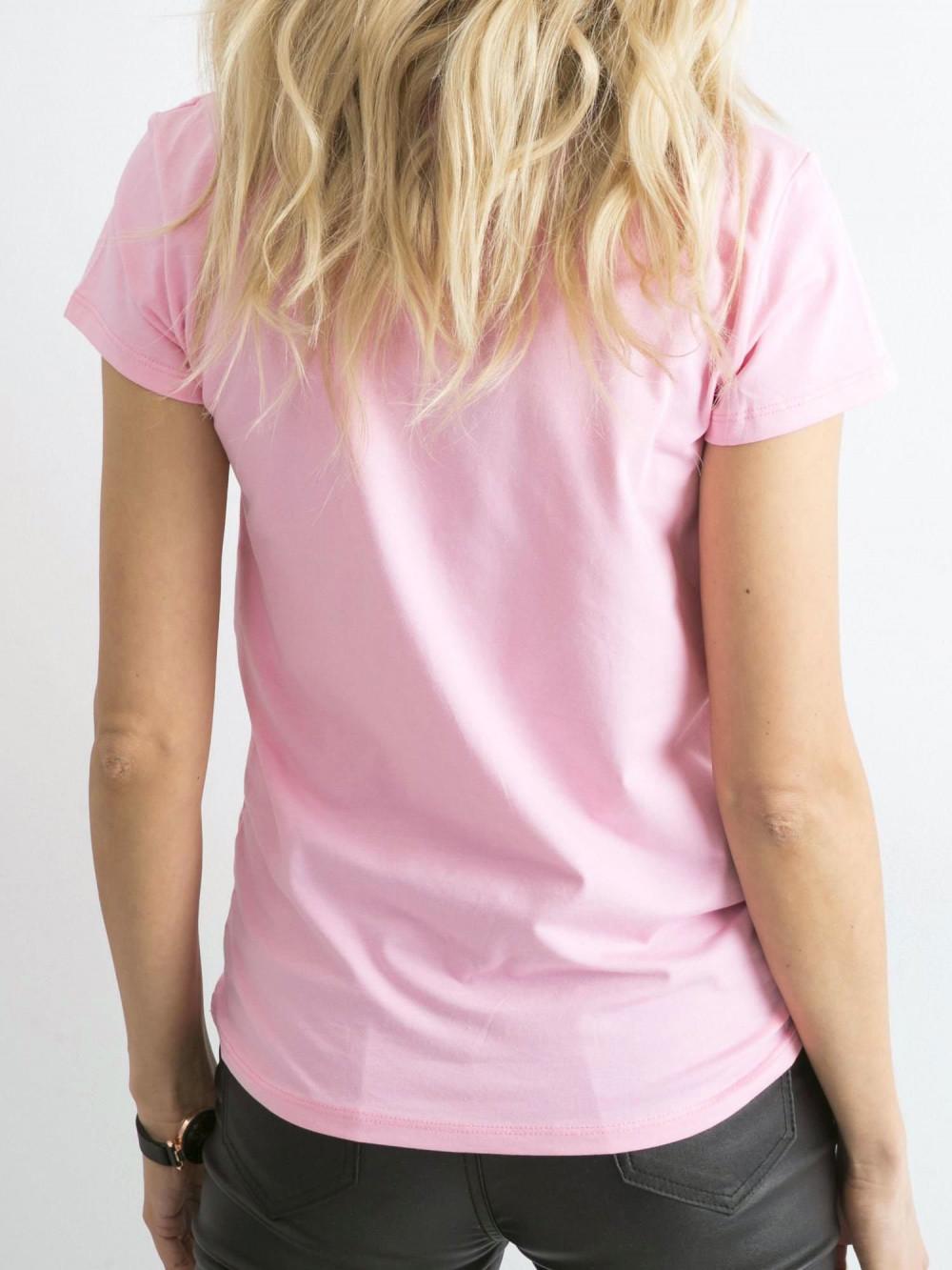 Różowy t-shirt O-Neck Esma 4