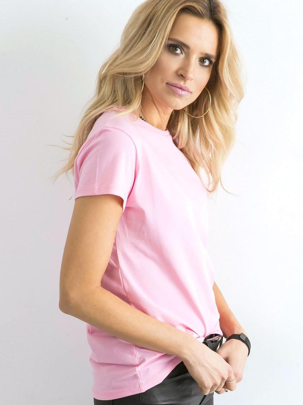Różowy t-shirt O-Neck Esma 3