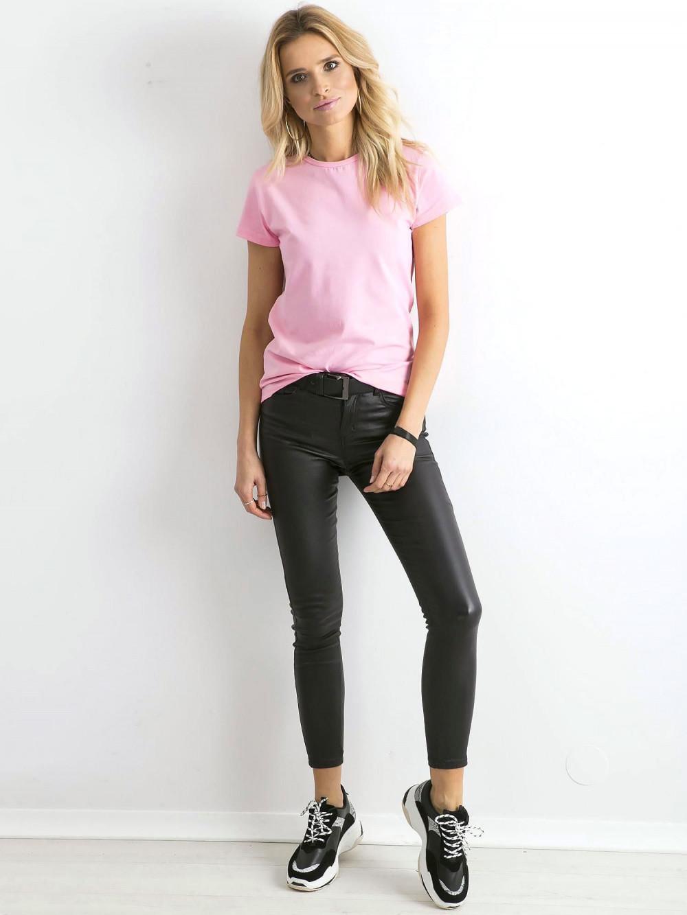 Różowy t-shirt O-Neck Esma 5