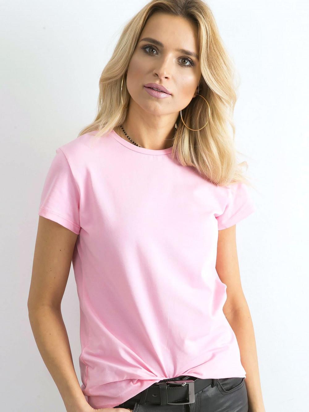 Różowy t-shirt O-Neck Esma 2