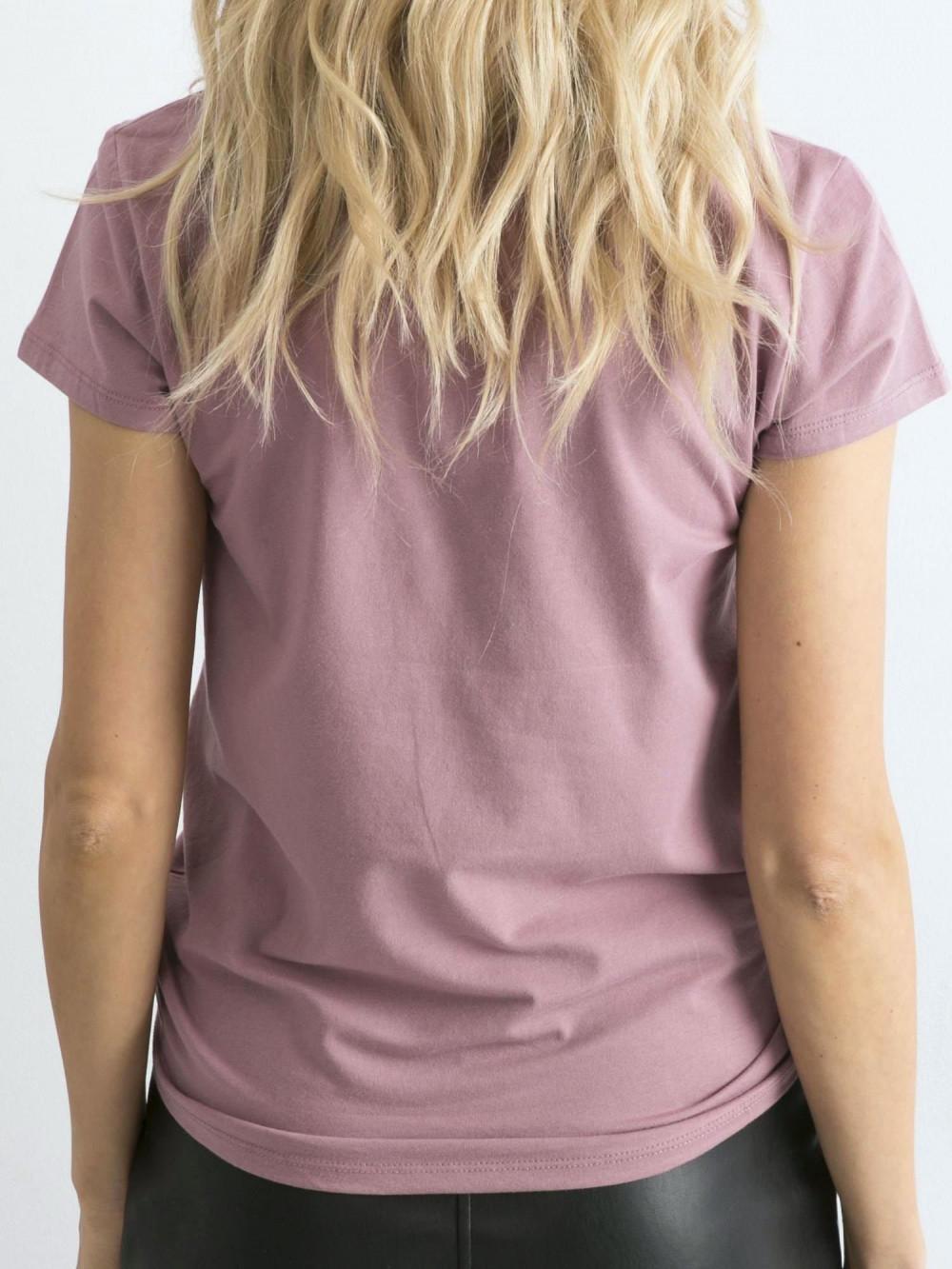 Wrzosowy t-shirt O-Neck Esma 5