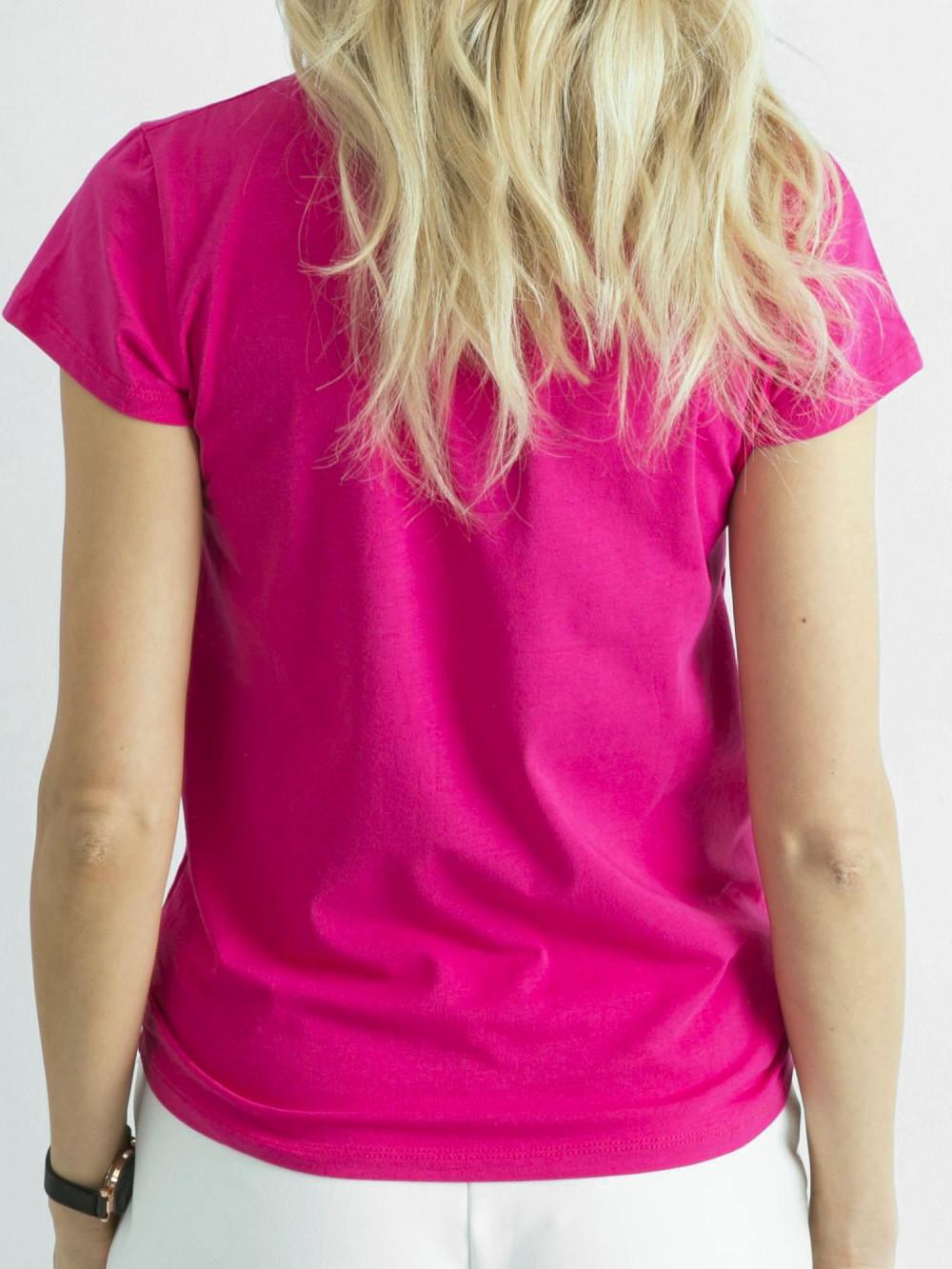 Fuksjowy t-shirt O-Neck Esma 4
