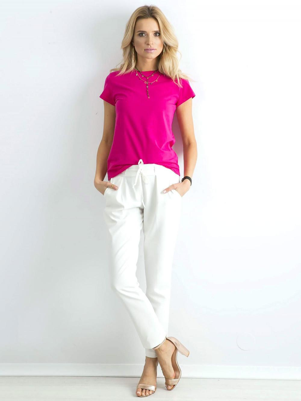 Fuksjowy t-shirt O-Neck Esma 3