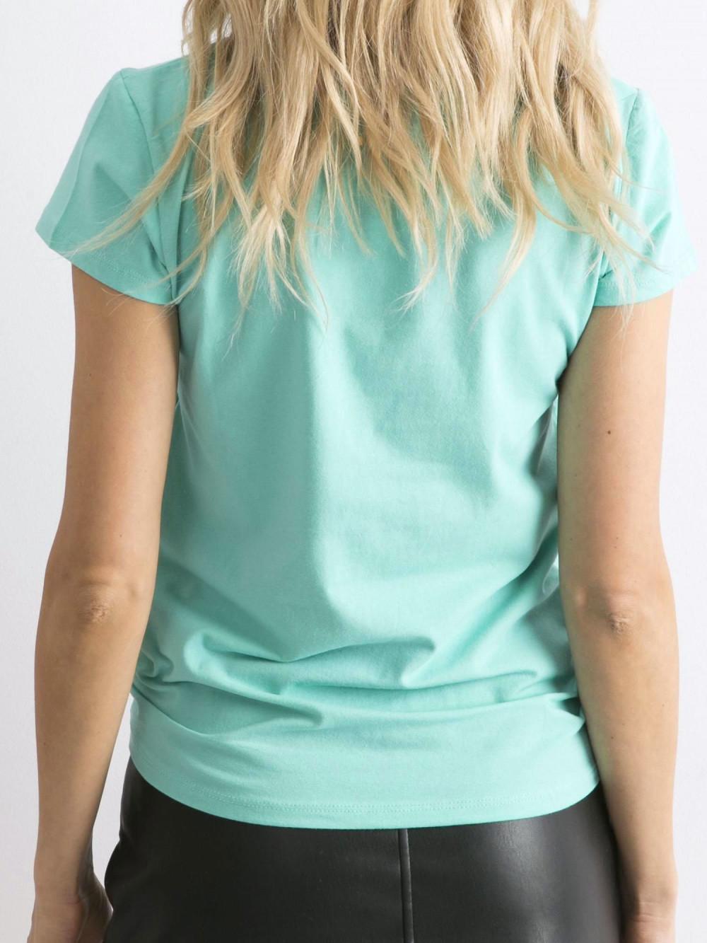 Ciemnomiętowy t-shirt O-Neck Esma 5