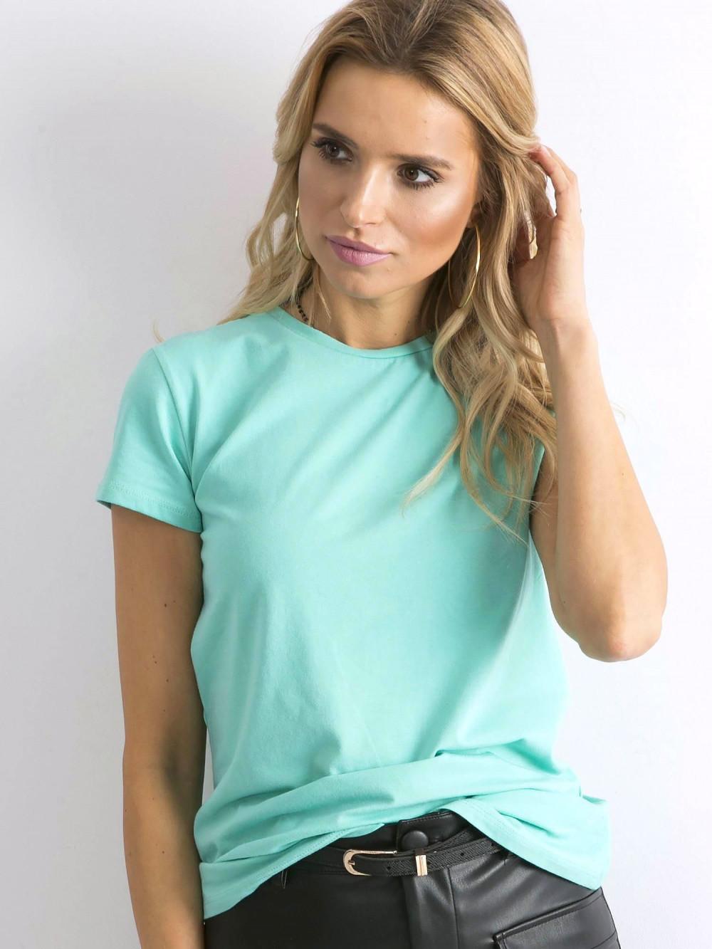 Ciemnomiętowy t-shirt O-Neck Esma 2