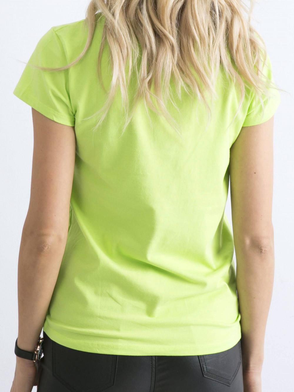 Limonkowy t-shirt O-Neck Esma 5