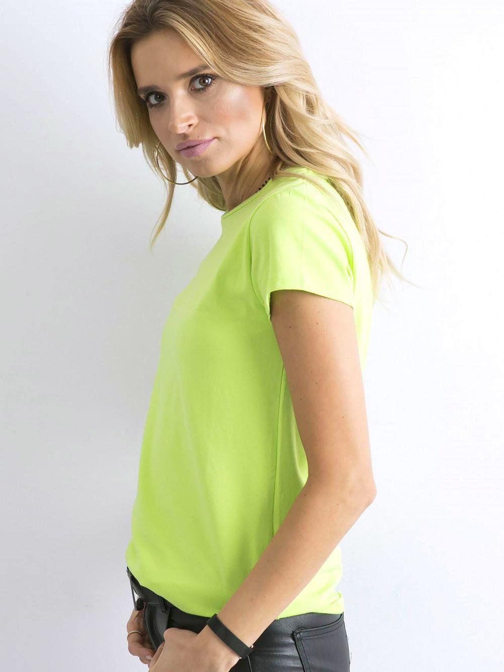 Limonkowy t-shirt O-Neck Esma 3