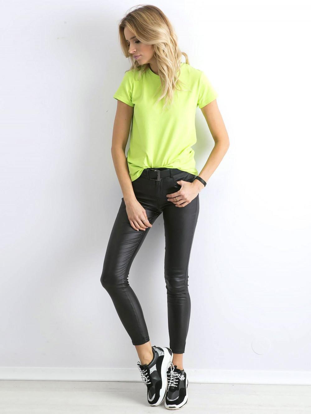 Limonkowy t-shirt O-Neck Esma 4