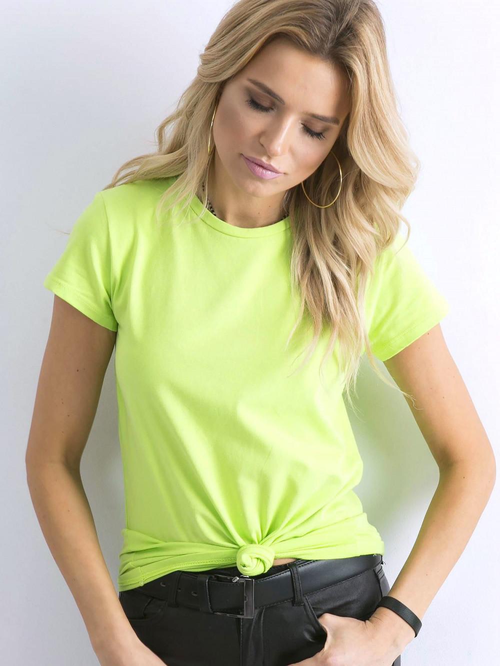 Limonkowy t-shirt O-Neck Esma 2