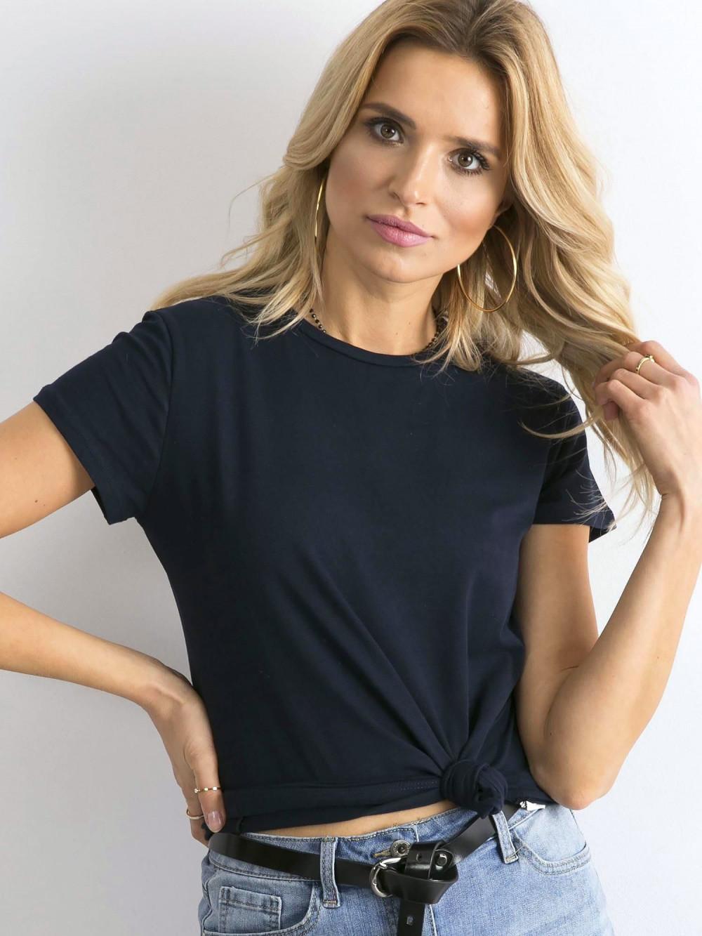 Granatowy t-shirt O-Neck Esma 1