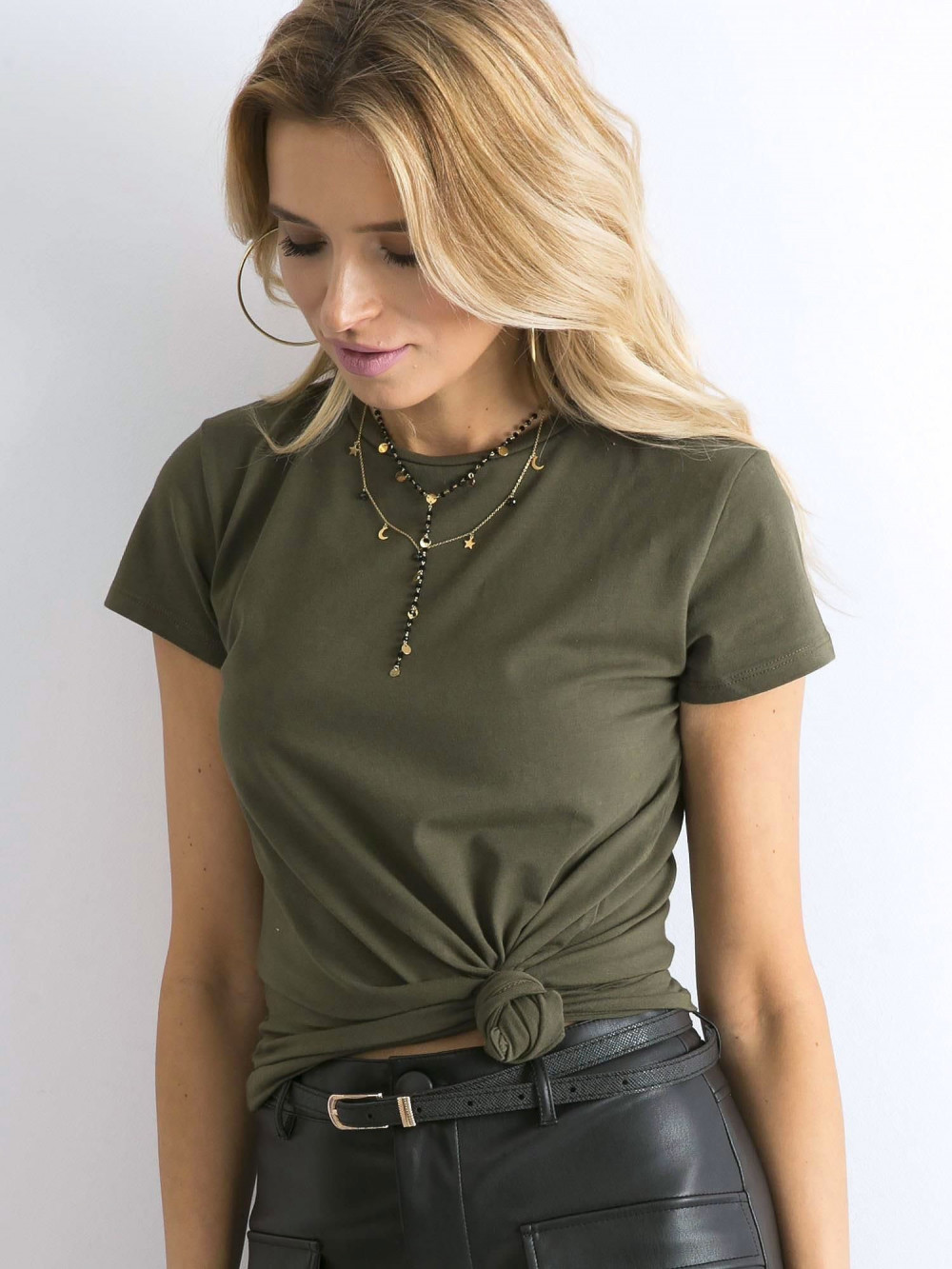 Khaki t-shirt O-Neck Esma 3