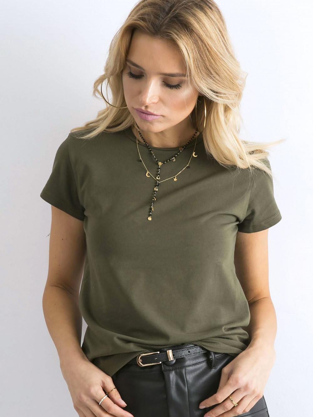 Khaki t-shirt O-Neck Esma 1