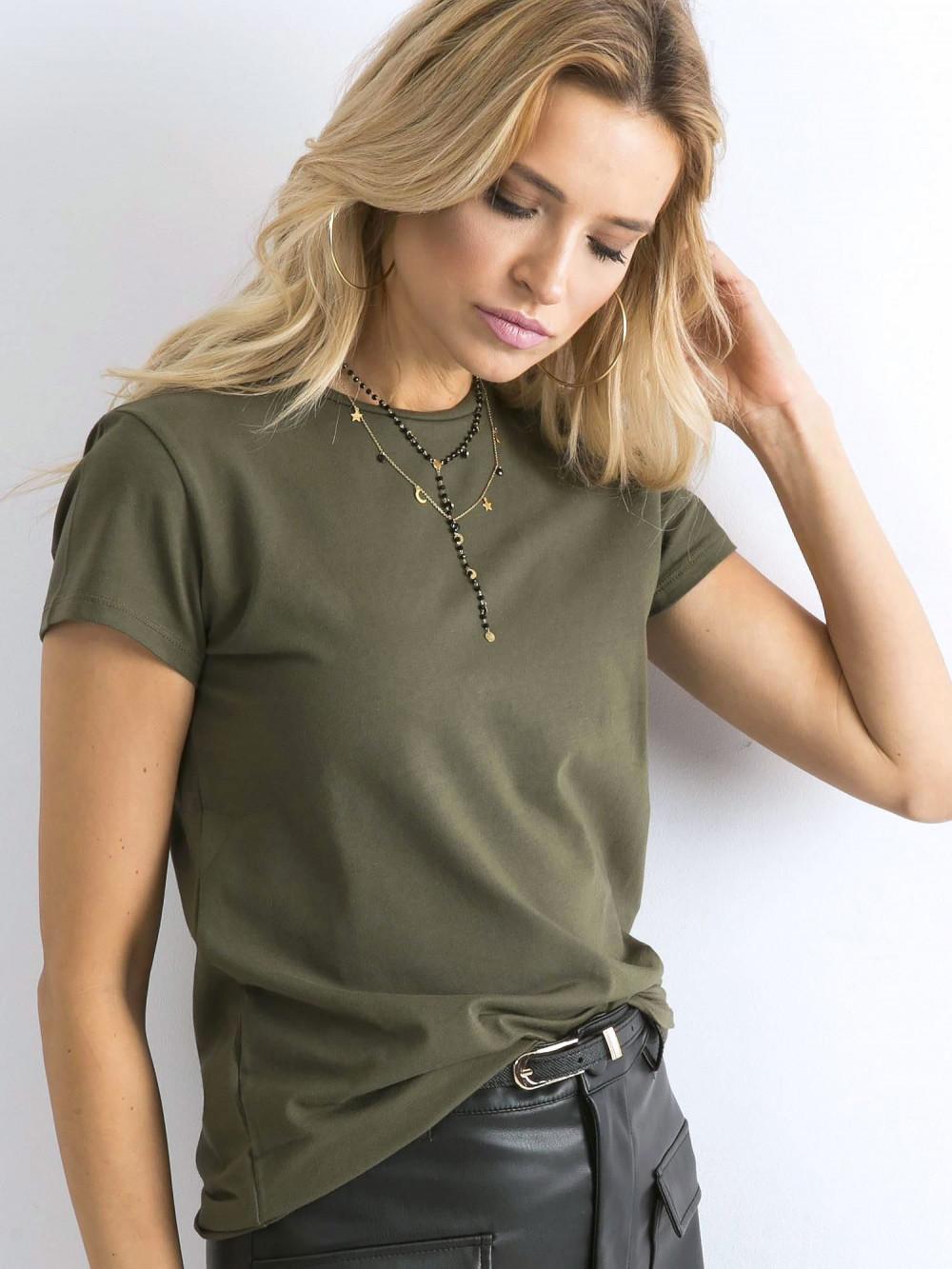 Khaki t-shirt O-Neck Esma 2