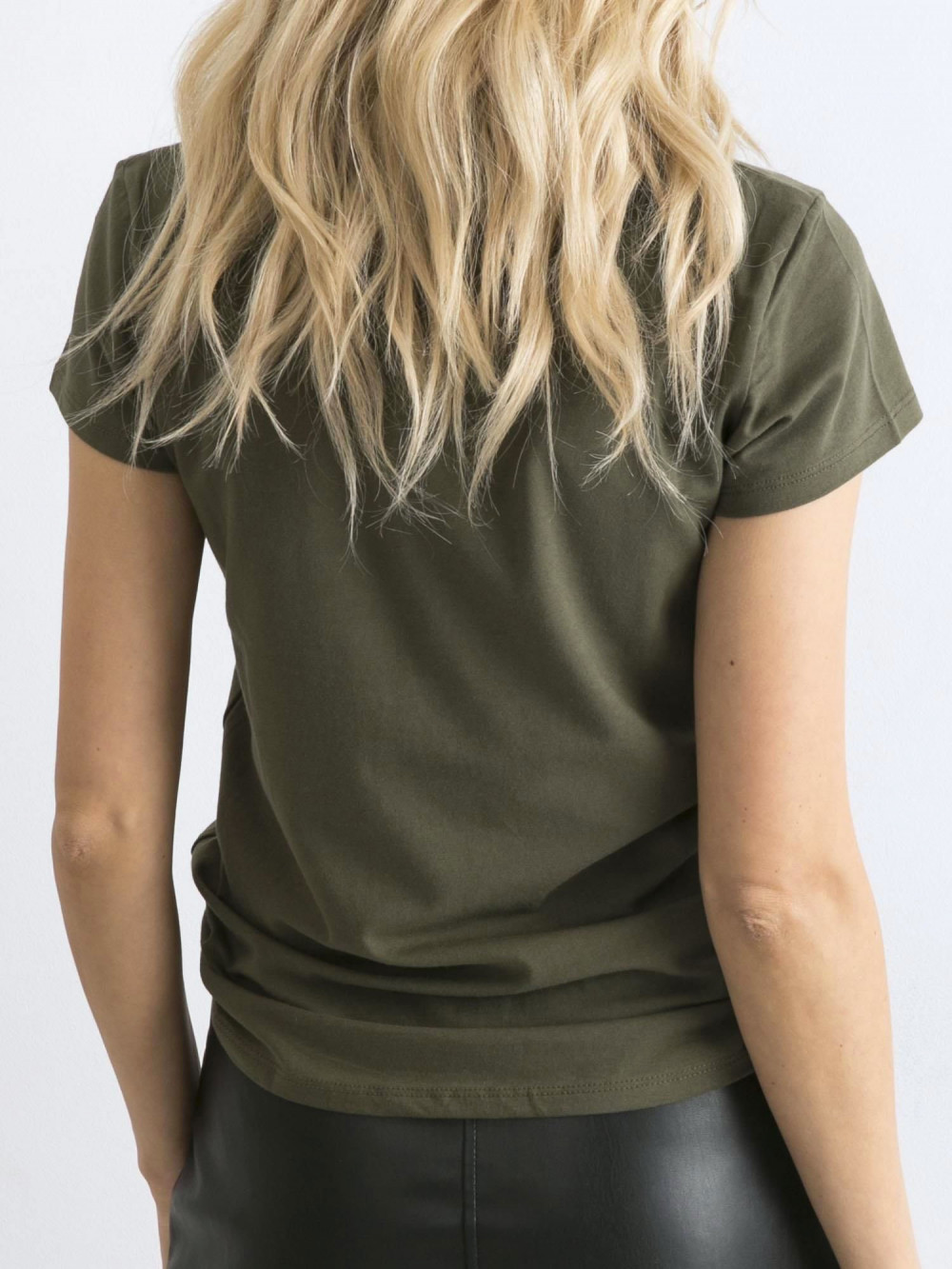 Khaki t-shirt O-Neck Esma 5