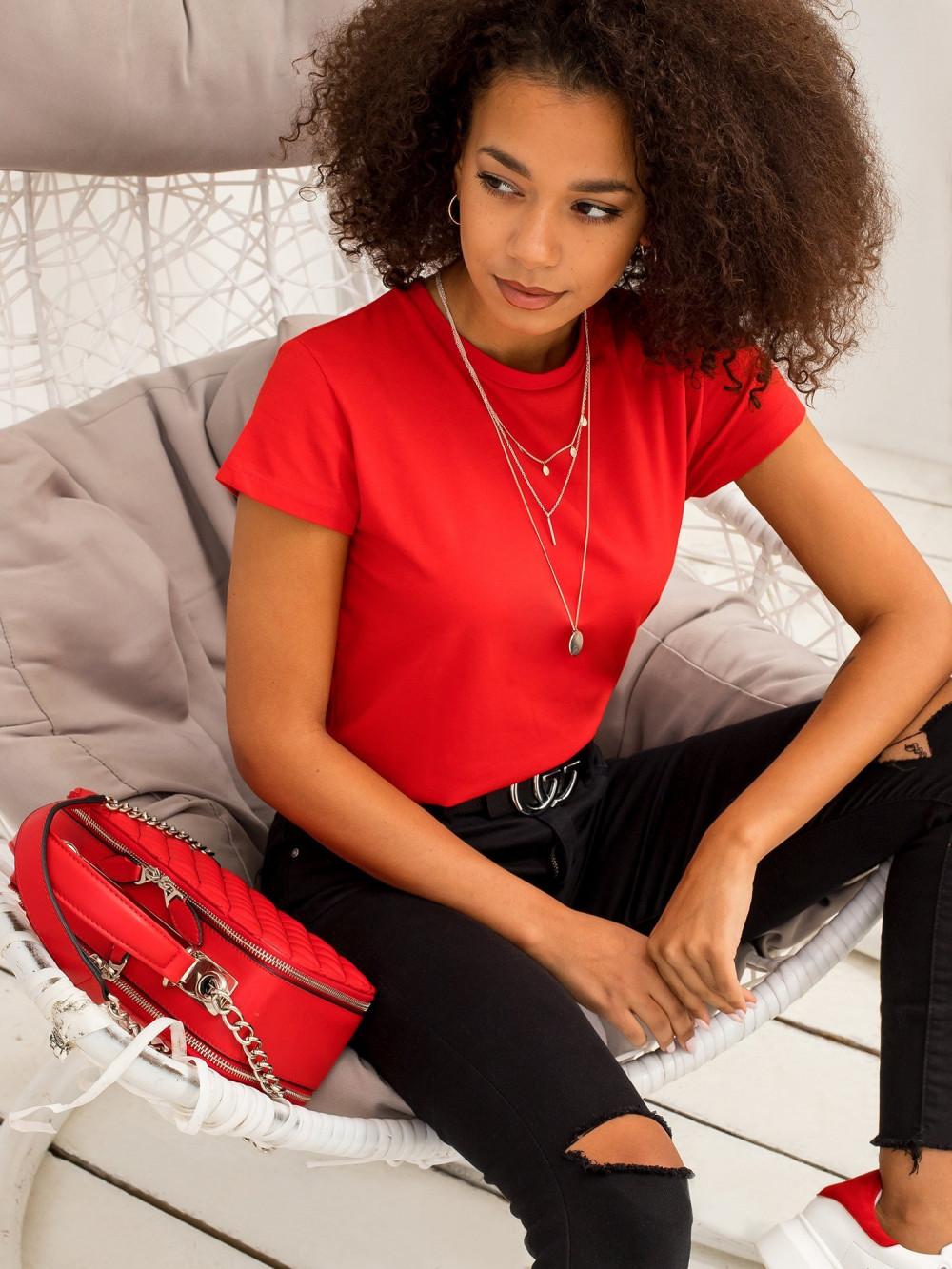 Czerwony t-shirt O-Neck Esma 1