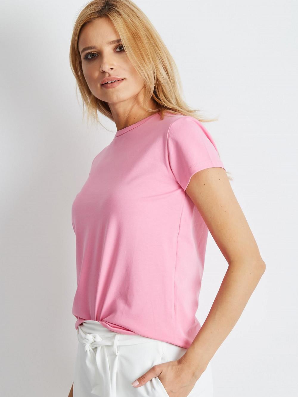 Jasnoróżowy t-shirt O-Neck Esma 2