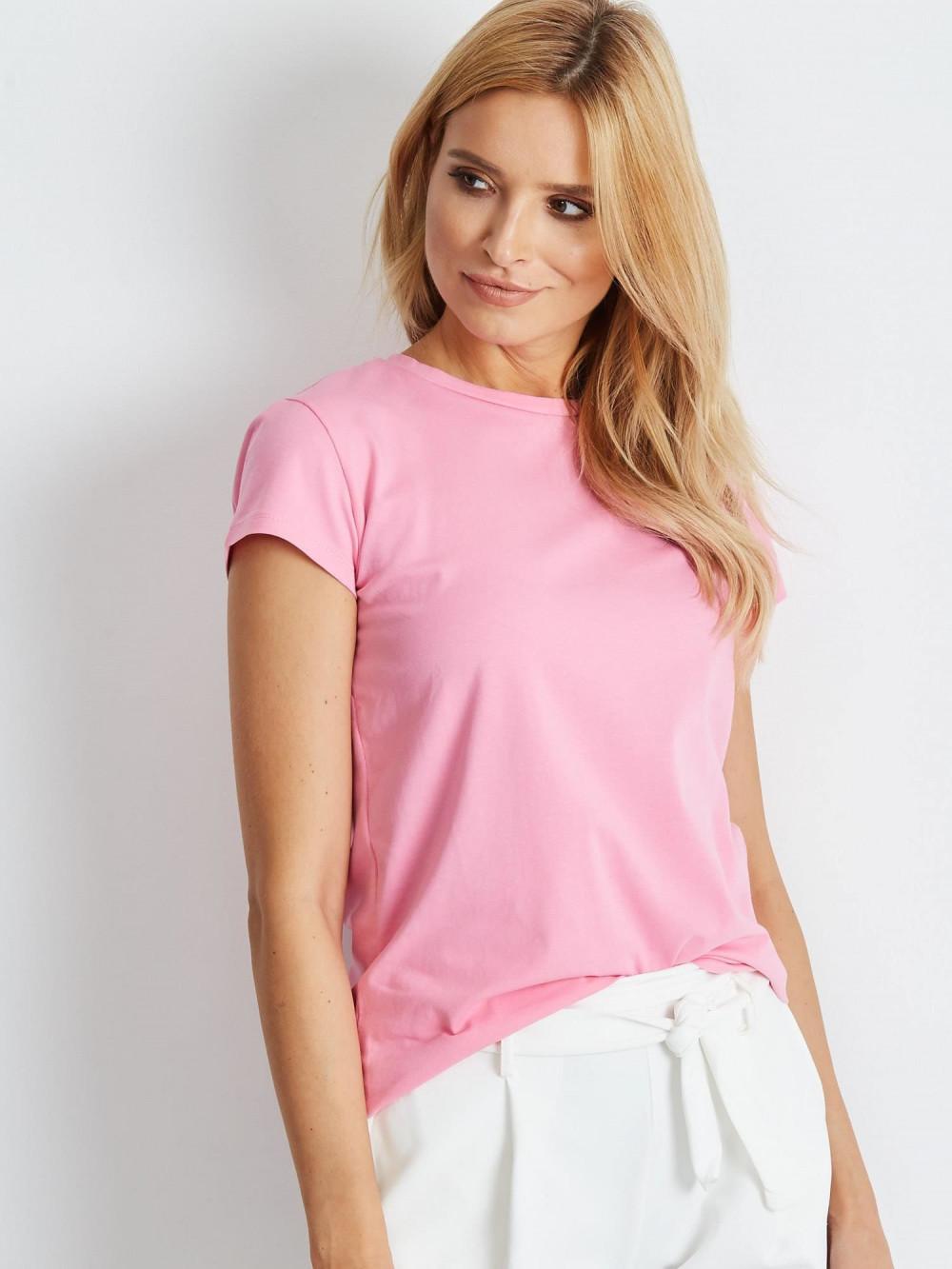 Jasnoróżowy t-shirt O-Neck Esma 1