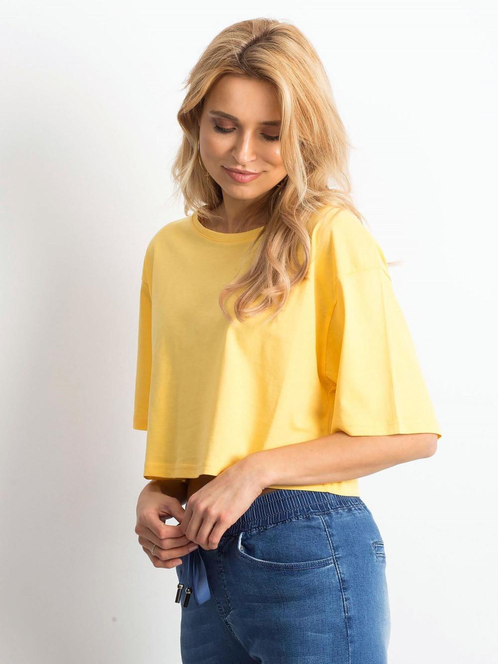 Żółty luźny crop top Haron 2
