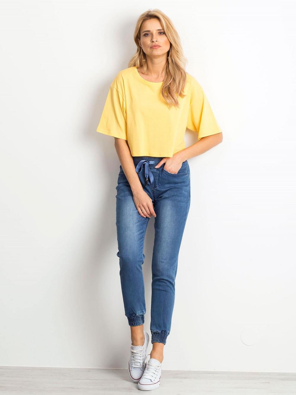 Żółty luźny crop top Haron 3