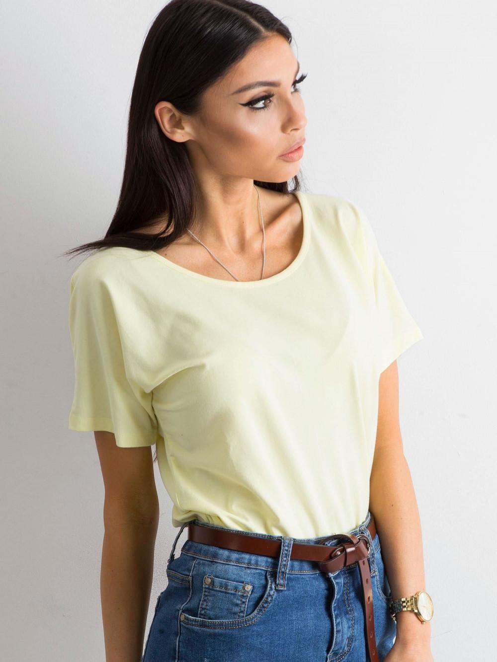 Jasnożółty t-shirt z wycięciem na plecach Sofie 3