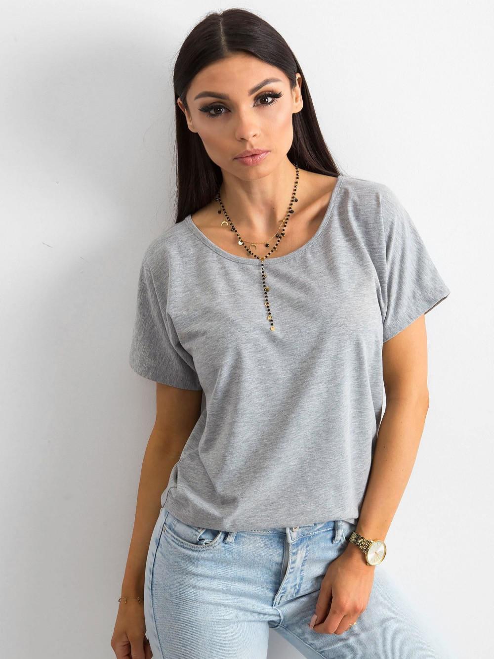 Szary t-shirt z wycięciem na plecach Sofie 2