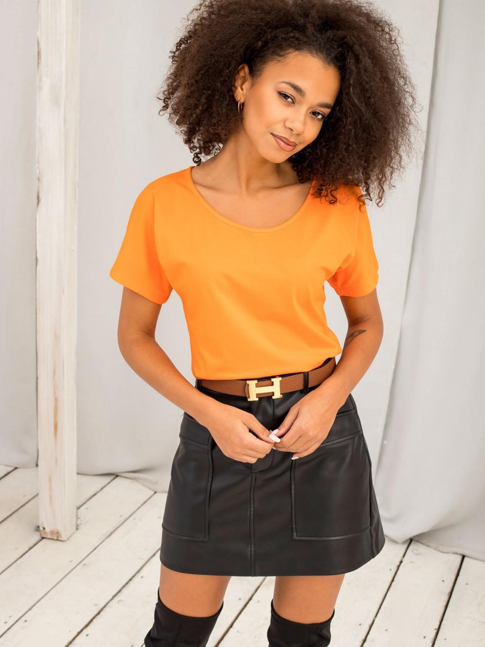 Pomarańczowy t-shirt z wycięciem na plecach Sofie 2