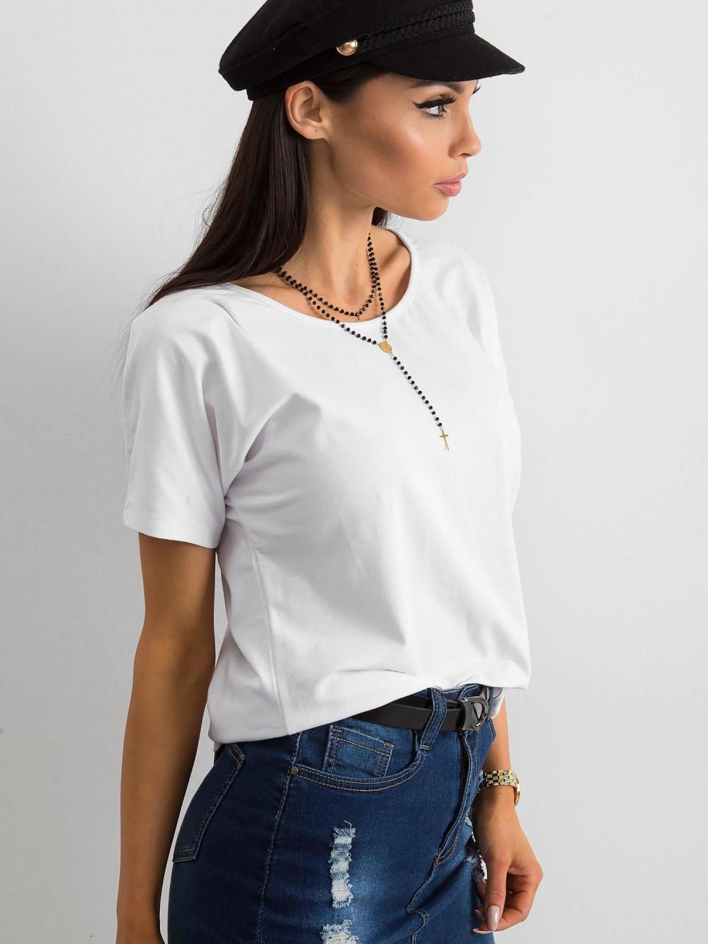 Biały t-shirt z wycięciem na plecach Sofie 3