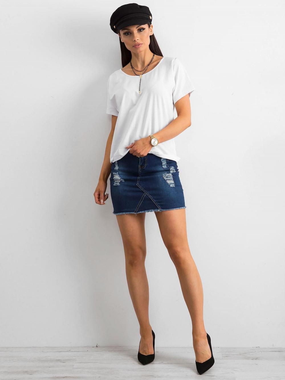 Biały t-shirt z wycięciem na plecach Sofie 4