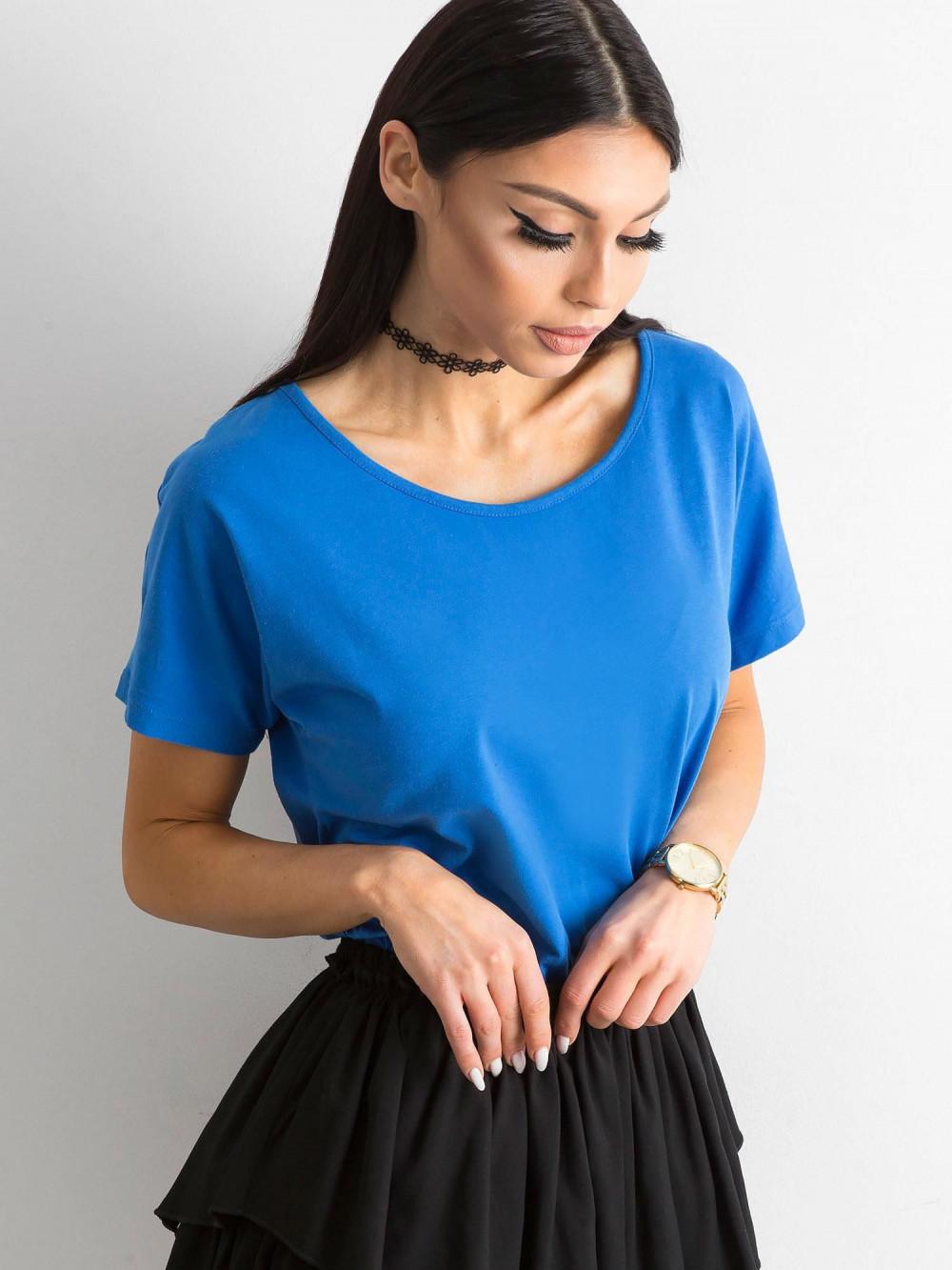 Niebieski t-shirt z wycięciem na plecach Sofie 3
