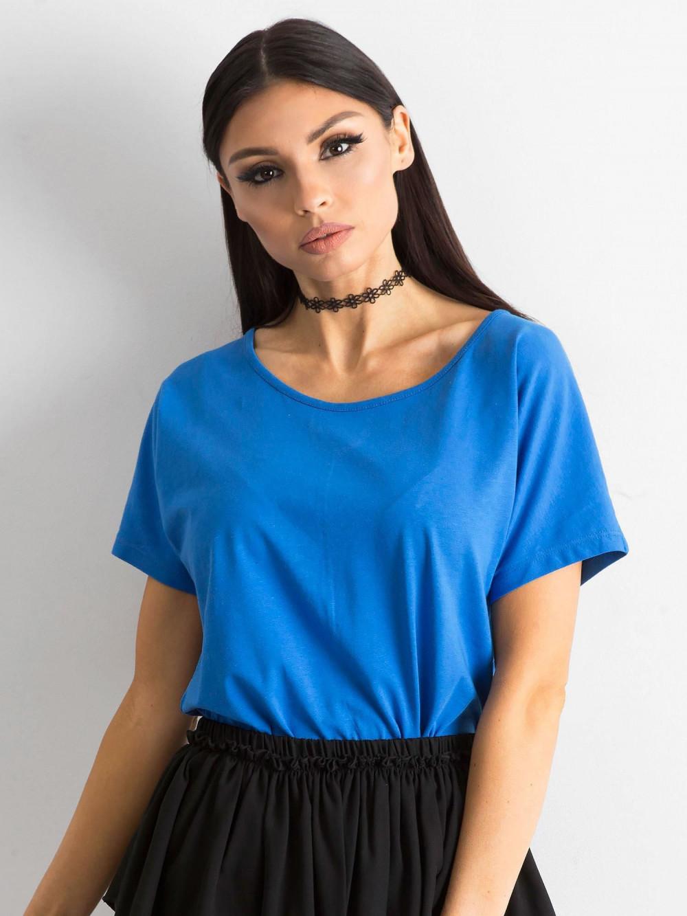Niebieski t-shirt z wycięciem na plecach Sofie 2