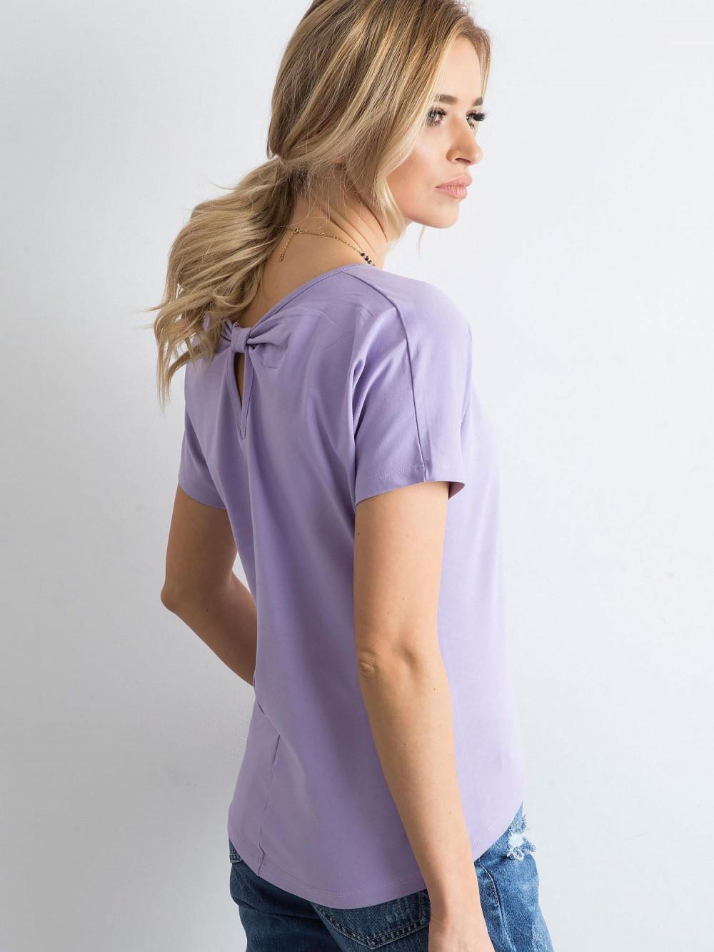 Fioletowy t-shirt z wycięciem na plecach Sofie 2