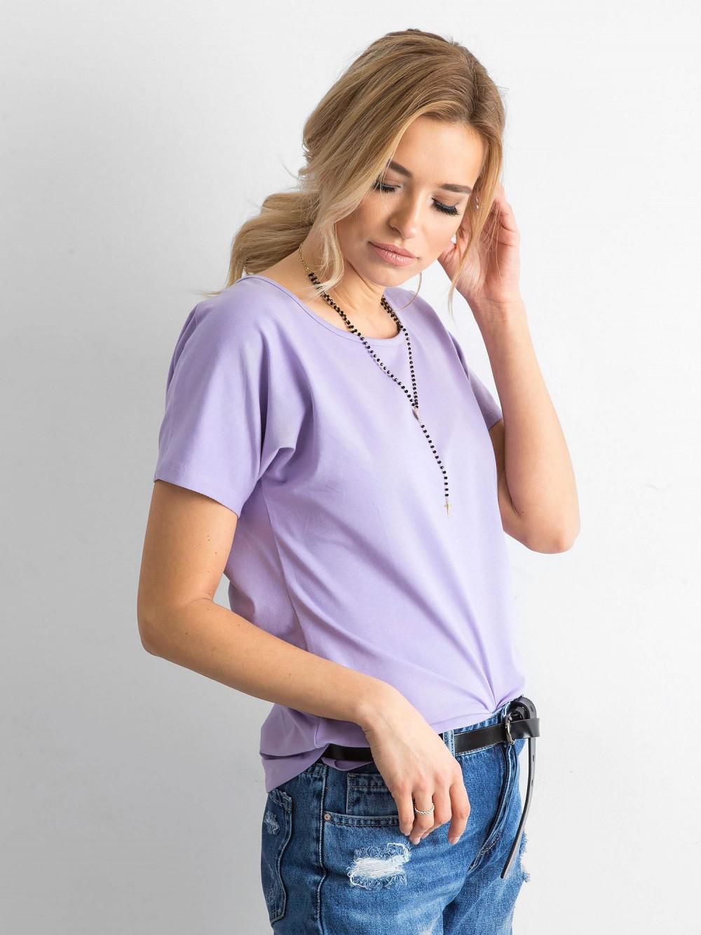 Fioletowy t-shirt z wycięciem na plecach Sofie 3