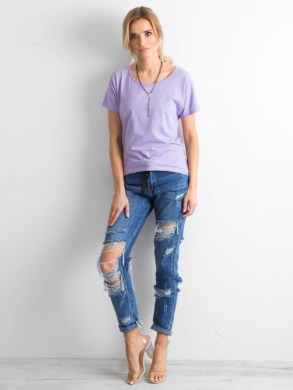 Fioletowy t-shirt z wycięciem na plecach Sofie 4
