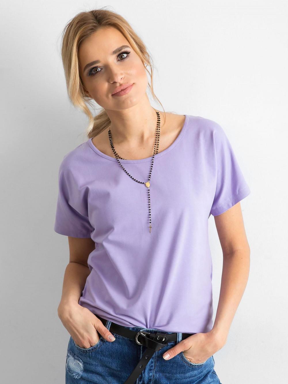 Fioletowy t-shirt z wycięciem na plecach Sofie 1