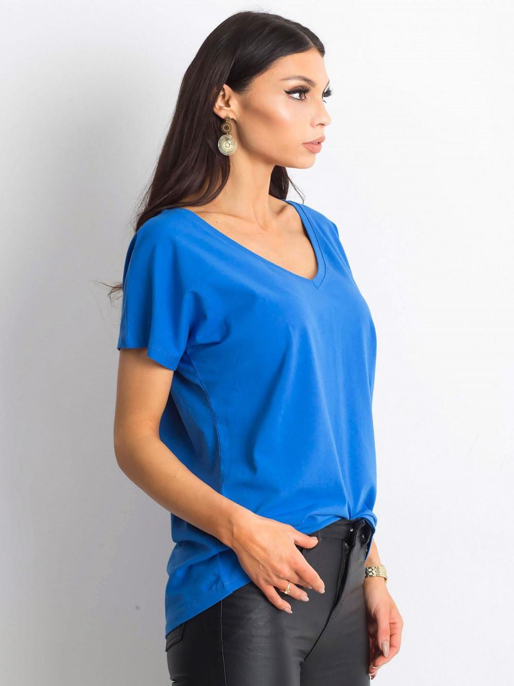 Ciemnoniebieski t-shirt V-Neck Gala 2