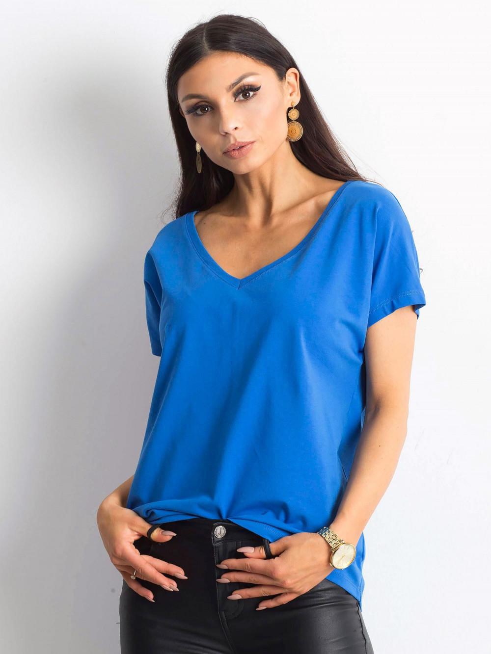Ciemnoniebieski t-shirt V-Neck Gala 1